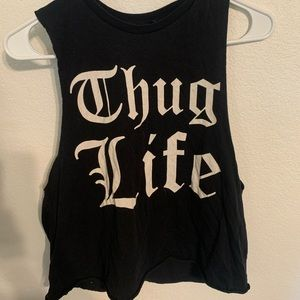 Forever 21 Thug Life Muscle Tank Top